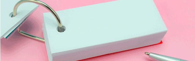 暗記学習に単語カードがおすすめな理由